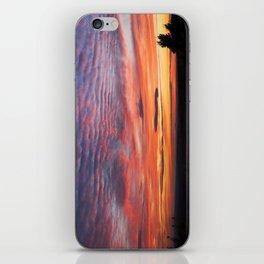 Photograph Of Sunset Eagle Lake Acadia National Park iPhone Skin