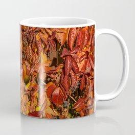 Nature Autumn Red Vine Leaves Coffee Mug