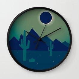 Desert Eclipse Wall Clock