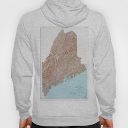 State of Maine Map (1977) Hoody
