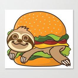 Sloth Burger Canvas Print
