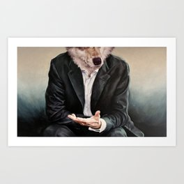 the politician Art Print
