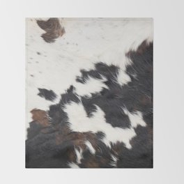Brown Cowhide Throw Blanket