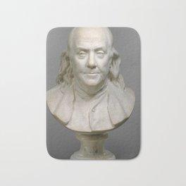 Historical Bust of Ben Franklin Photograph (1778) Bath Mat