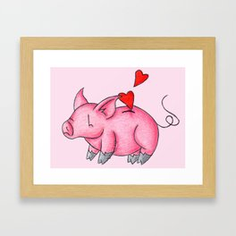 Slot for Hearts Framed Art Print