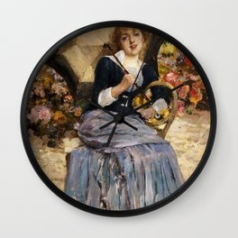 Jules Bastien-Lepage - Girl with a sunshade Wall Clock