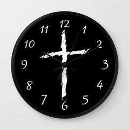 Rugged Cross Wall Clock