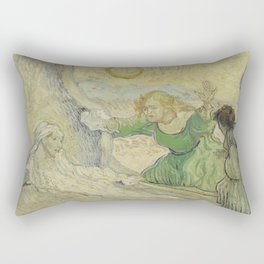 The Raising of Lazarus (after Rembrandt) Rectangular Pillow