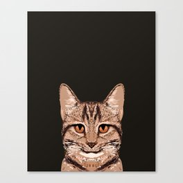 Ripley - Tabby Cat cute cat gifts for cat people and cat lady gift ideas for the cat lover  Canvas Print