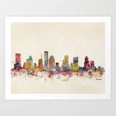 houston texas Art Print