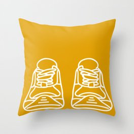 Sneaker Doodle #3 Throw Pillow