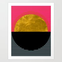 sunset Art Prints featuring Abstract Sunset by Georgiana Paraschiv