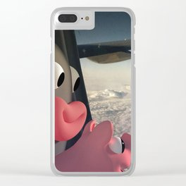 Lars&Rosa in the Planes Clear iPhone Case