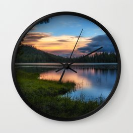 Dreaming Juanita Lake in Northen California Wall Clock