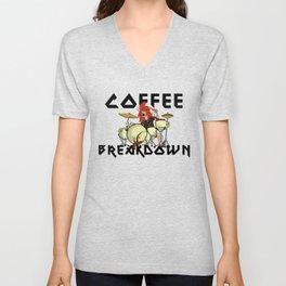Coffee Breakdown Unisex V-Neck