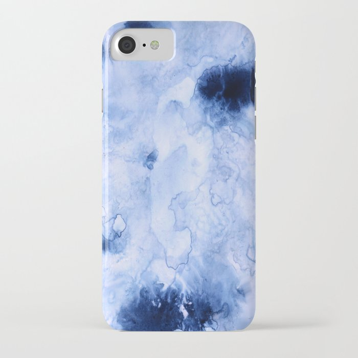 Marbled Water Blue iPhone Case