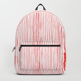 Holiday Red Watercolor Stripes Backpack