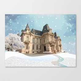 Winter at the Castle Canvas Print
