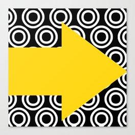 Yellow arrow design Canvas Print