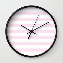 Simply Striped in Desert Rose Pink Wall Clock