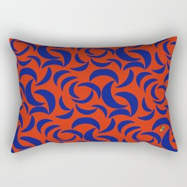 Many Moons - Red Rectangular Pillow