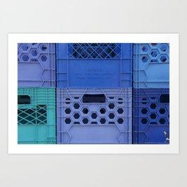 Milk Crates Art Print