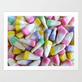 Easter Candy Corn Art Print
