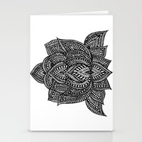 lotus flower Stationery Cards featuring Lotus by Luna Portnoi