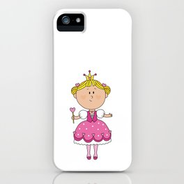Pink Love Girl - Valentines Day iPhone Case