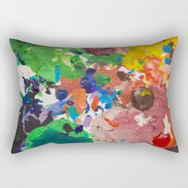 Palette of Colors Rectangular Pillow