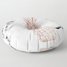 Pineapple Rose Gold Marble Floor Pillow