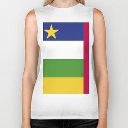 Central African Republic flag emblem Biker Tank