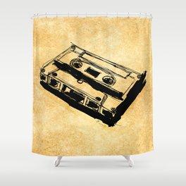 Retro Cassette Tape Shower Curtain