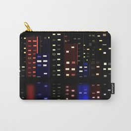 City Reflections at night Carry-All Pouch