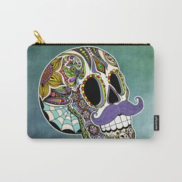 Mustache Sugar Skull Carry-All Pouch