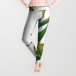 Green Leaves Leggings