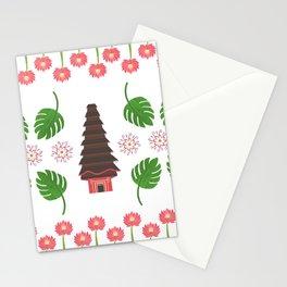 Balinese Pura, Sacred Lotus Temple Stationery Cards