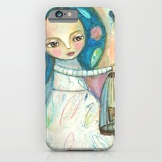 Free to fly - girl and birds Slim Case iPhone 6s