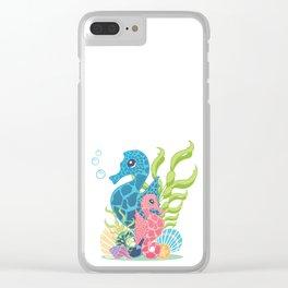 Florida Seahorses Clear iPhone Case