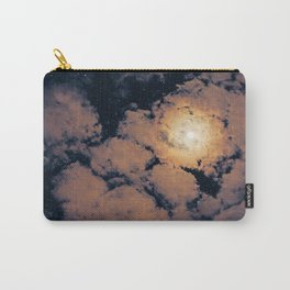 Full moon through purple clouds Carry-All Pouch