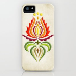 Fancy Mantle on Vintage Background iPhone Case