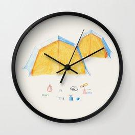 Le Camping Wall Clock