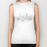 hogwarts Biker Tanks featuring Hogwarts Castle by Jessica Slater Design & Illustration
