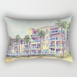 1500 E Ocean Blvd. Long Beach Rectangular Pillow