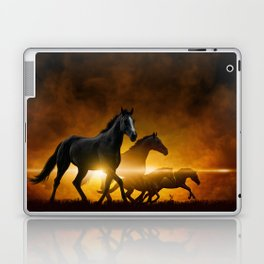 Wild Black Horses Laptop & iPad Skin