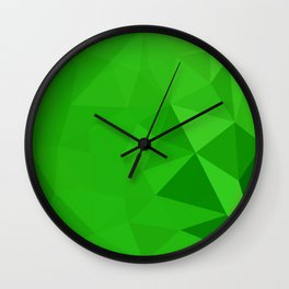Bitter Lemon Green Abstract Low Polygon Background Wall Clock