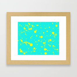 310001 Turquoise and Yellow Painting Framed Art Print