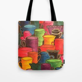 Coffee and colours Tote Bag