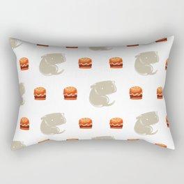 Sharkbark's Burgers - Pattern Rectangular Pillow