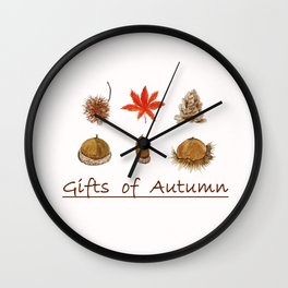 Gift of autumn watercolor painting Wall Clock
